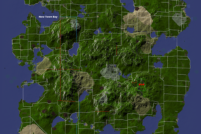 A cropped image of the Liberty server mapping.